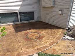 Patio Concrete Designs Cozy With Concrete Resealing Stamped Concrete