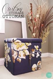 diy storage ottoman makeover an elegant transformation for these