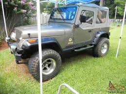 jeep kaiser lifted 1988 jeep wrangler sahara utility 2 door 4 2l lifted w american