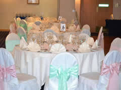 mint green chair sashes wedding chair cover hire