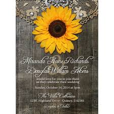 sunflower wedding invitations rustic sunflower wedding invitations iloveprojection