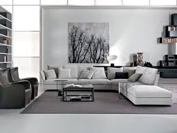 living room white gray wall paint color l shaped sleeper
