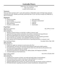 Sample Summary In Resume by Best Sales Associate Resume Example Livecareer