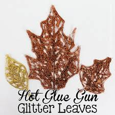 Fall Decorating Projects - diy fall decorations glue glitter leaves