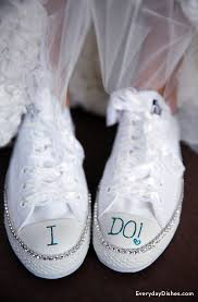 wedding shoes converse sneakers craft with bling for wedding