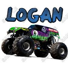 monster trucks grave digger crashes personalized iron on transfers grave digger monster truck