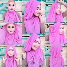 tutorial hijab pesta 2 kerudung 26 gambar terupdate tutorial hijab wisuda syar i terbaru tutorial