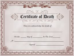 6 death certificate templates u2013 free word pdf documents download