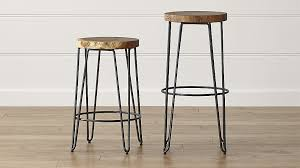 iron bar stools iron counter stools origin backless bar stools crate and barrel for with decor 15