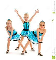 novice girls tap dance trio royalty free stock images image