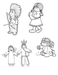 thanksgiving child activities indian child clipart 18