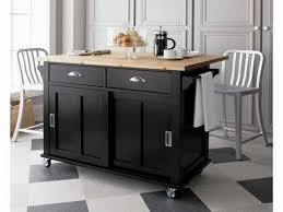 Black Kitchen Island With Stools Kitchen Island On Wheels With Stools Designs Ideas And Decors