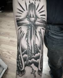 tattoo cross rays 51 rosary tattoo ideas with meaning the wild tattoo 2018