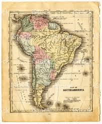 Latin America Map by Map Of South America 1840 Stock Photo 171085125 Istock