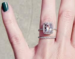 large engagement rings large engagement ring and small wedding band image 323571