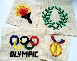 olympic inspired cross stitches 7 steps with pictures