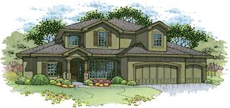 House Plans Craftsman House Plans Story Pueblo Style Home Robertson Asher Elevcolor Plan