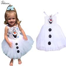 olaf costume 2017 hot snowman olaf costume baby tulle fancy gown