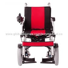 Jerry Chair Wheelchair Foldable Power Wheelchair With Bed Pan Front Motor Drive Global