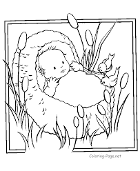 Baby Moses Coloring Pages Many Interesting Cliparts Bible Coloring Pages Moses