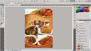 cara membuat brosur makanan cara membuat brosur makanan tutorial photoshop