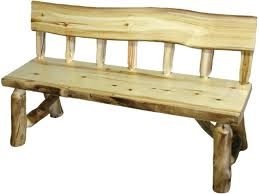 Rustic Outdoor Bench by Interior Log Benches Gammaphibetaocu Com