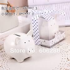 Baptism Piggy Bank Ceramic Mini Piggy Bank In Gift Box With Polka Dot Bow Coin Box