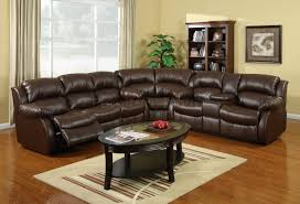 Reclinable Sectional Sofas Black Leather Reclining Sectional Sofa Home Design Ideas And