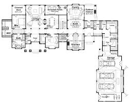 craftsman style house plan 6 beds 4 baths 5806 sq ft plan 928