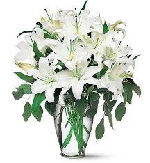 lilies flowers magnificent white lilies flower bouquet