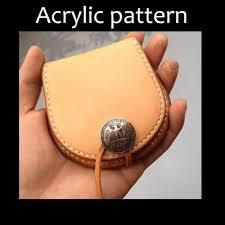 cut acrylic template pmma pattern coin purse template a 26