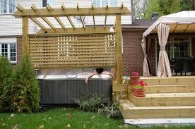 backyard tub privacy ideas backyard fence ideas