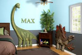 Kids Bedrooms With Dinosaur Themed Wall Art And Murals - Kids dinosaur room