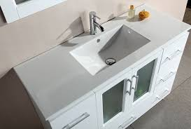 design element stanton single drop in sink vanity set with white