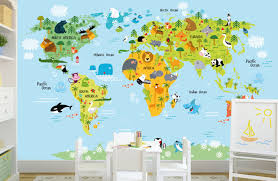 Etsy World Map by Download World Map Removable Wallpaper Gallery
