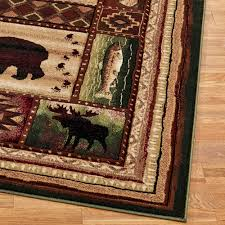 area rugs wonderful log cabin area rugs camouflage rustic nature
