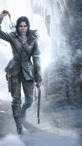 rise of the tomb raider 2015 game wallpapers wallpaper rise of the tomb raider game forest snow bow wind