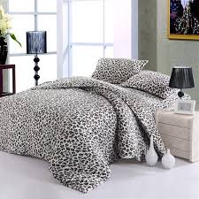Leopard Bed Set Popular Glitter Comforter Set With Charming Leopard Pattern