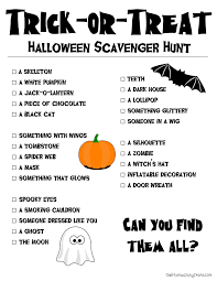 printable halloween scavenger hunt halloween scavenger hunt and