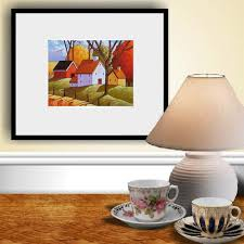 pumpkins fall farm print thanksgiving folk harvest