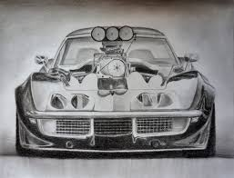 sports cars drawings awesome car drawing c3 corvette stingray supercharged youtube