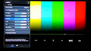 how to reset vizio tv miracle vizio picture settings m552i b2 color adjustment youtube