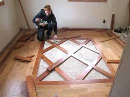 Hardwood Floor Border Design Ideas Wood Floor Designs For Entryways Custom Wood Flooring Borders