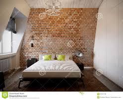 urban contemporary modern scandinavian loft bedroom stock
