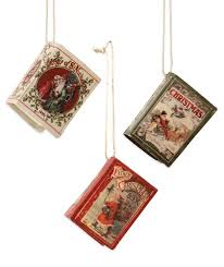 mini vintage book ornaments bethany lowe