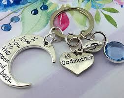 godmother keychain godmother keychain etsy