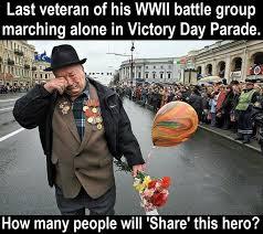 Veteran Meme - last veteran of wwii battle group marching alone in victory day