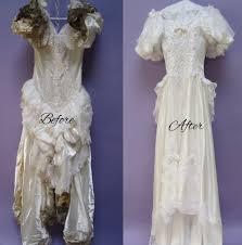 wedding dress restoration wedding gown nearly by termites heritage garment