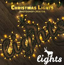 christmas lights net style christmas lights text style photoshop action psddude