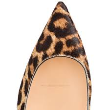 christian louboutin women decollete 554 70mm leopard printed pony